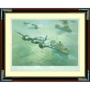 Strike Wing Attack - Framed Print Signed by Frank Wootton and 5 Pilots