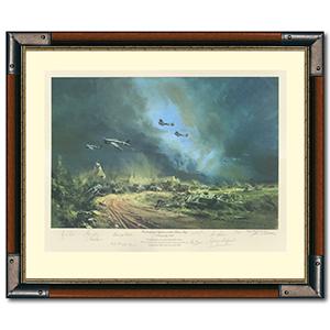 Rocket Firing Typhoons Print - Signed & Framed