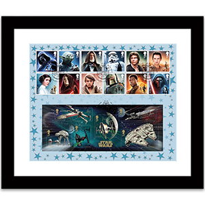 Star Wars Stamps & M/S cover framed