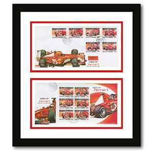 Pair of Ferrari Gibraltari Covers Framed