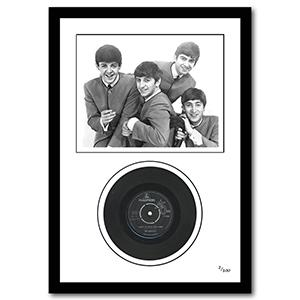 The Beatles 'I Want to Hold Your Hand' Framed Vinyl