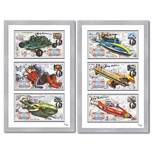 Gerry Anderson Signed & Framed Edition Pair