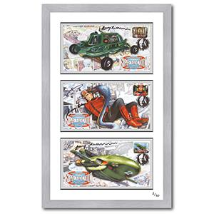 Gerry Anderson Signed & Framed Edition - Joe 90, Capt Scarlett & Thunderbirds