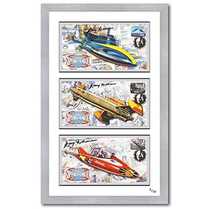 Gerry Anderson Signed & Framed Edition - Stingray, Fireball & Supercar