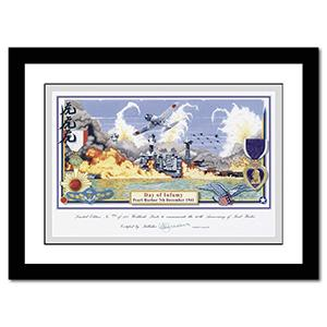 Day of Infamy - Pearl Harbour Print (Framed)