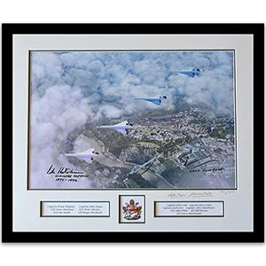 The Four Concordes - Filton Flypast - Signed Limited Edition Framed Print