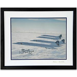 Four Concordes - Framed - Signed by Captain Mike Bannister & Photographer Adrian Meredith