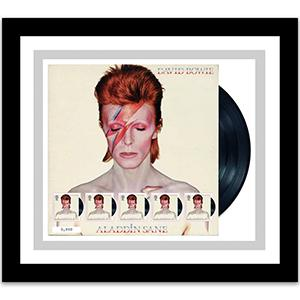 David Bowie Aladdin Sane Fan Sheet - Framed