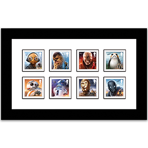 2017 Space Adventure Stamps Framed