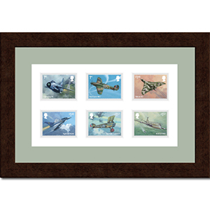 Framed Royal Mail RAF Stamps