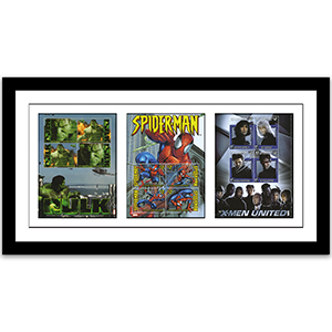 Marvel Heroes Framed Edition - 3 Stamp Sheets