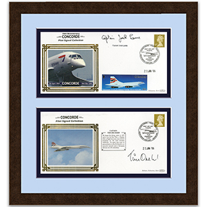 Concorde Signed Covers Framed