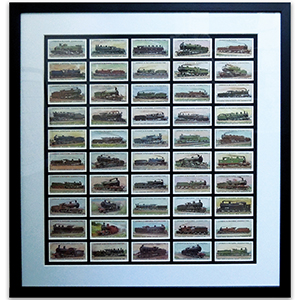 Wolrd's Locomotives Reproduction Cards Framed