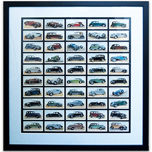 Motor Cars Reproduction Cards Framed