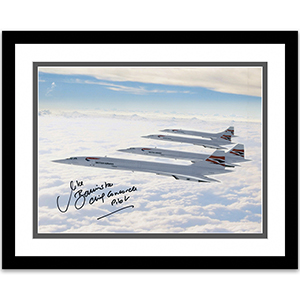 Four Concordes Print - Signed by Captain Bannister - Framed