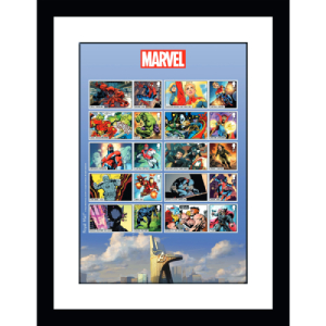 Marvel Collectors Sheet Framed