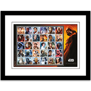 Star Wars Collector's Sheet Framed