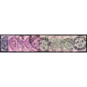 1883 Q.V. - Lilac & Greens 10v.