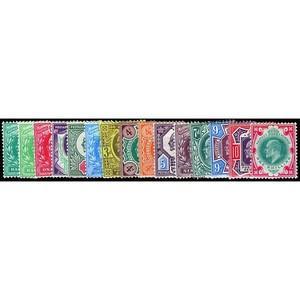 1902-13 Edward 7th low values 15v