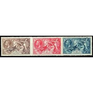 1934 Re-engraved seahorses 3v.