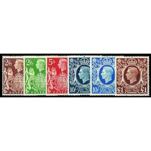 1939-48 Square High Values 6v.