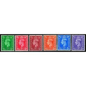 1941 Light colours 6v.