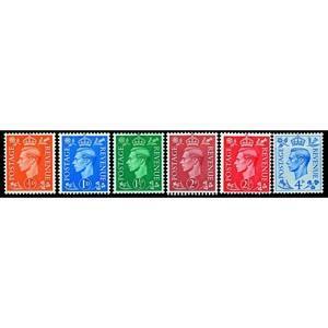1950 New colours 6v.