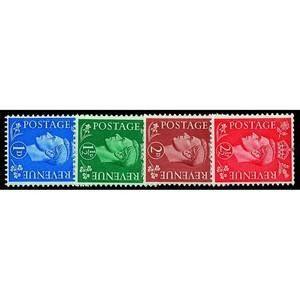 1950 New colours sideways wmk. 4v.