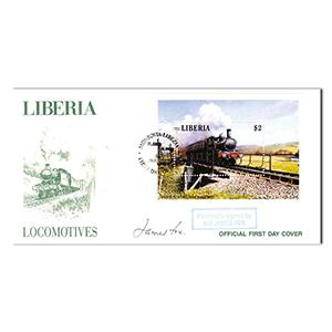 1988 Liberia Locomotives - Signed by James Fox