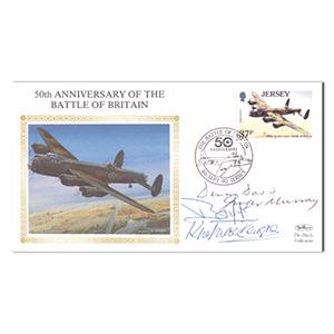 1990 50th Anniversary B.O.B. - Signed by 4 Veteran Pilots