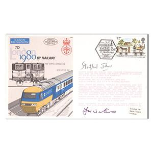 1980 Mail by Rail Cover - Signed Stratford Johns