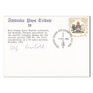 1983 Australia - Signed by Ulf Merbold