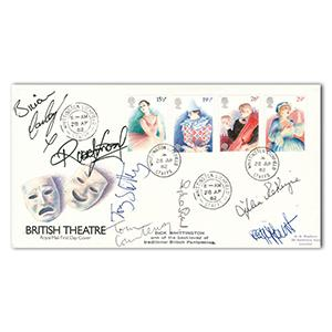 1982 Europa British Theatre - Signed Peggy Mount, Sylvia Syms and 5 Others