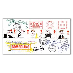 1998 Comedians. Signed Brian Rix, Michael Gambon and 2 others.