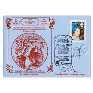 1980 Queen Mother - Blackpool Grand Theatre - Signed Daryl Hannah and 1 Other