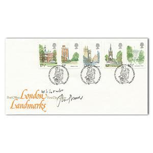 1980 Landmarks. Signed Sir John Mortimer, 'Rumpole' creator.