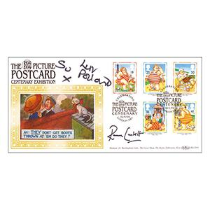 1994 Postcards - Signed by Su Pollard and Ronnie Corbett