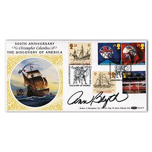 1992 500th Anniversary of Columbus - Signed by Ann Blyth
