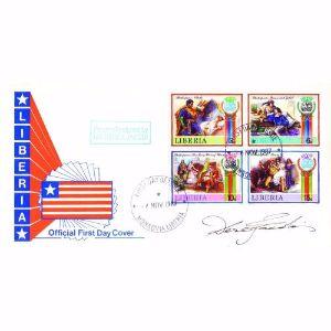 1987 Liberia Shakespeare - Signed Derek Jacobi - Limited Edition 25