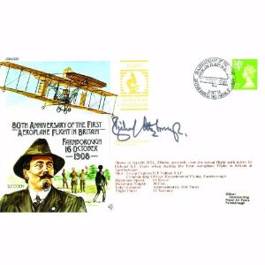 1988 1st Aeroplane Flight in Britain 80th Anniversary - Signed Sir Richard Attenborough