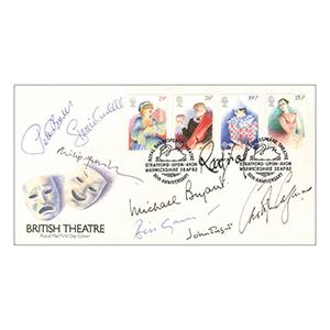 1982 British Theatre - Signed by John Gielgud, Christopher Cazenove, Philip Franks and 5 Others