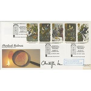 1993 Sherlock Holmes - Signed by Christopher Lee