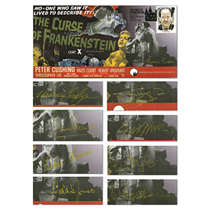 1997 Frankenstein - Set of 9 Covers - Signed by Hammer Horror Actors
