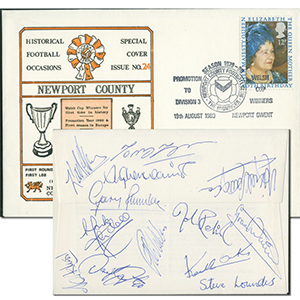 1980 Newport County - Signed by 13