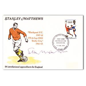 1970 Sir Stanley Matthews Cover - Signed by Stanley Matthews