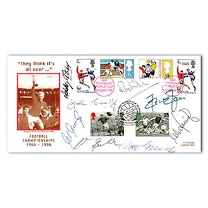 1996 Football Legends - Multi-Signed Cover (8 Signatures)