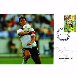 1990 Football. Signed Bryan Robson.