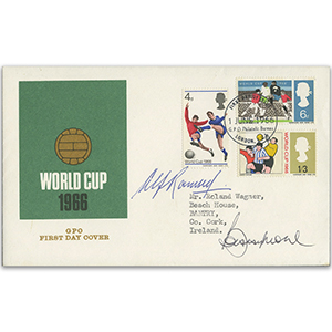 1966 World Cup - Signed by Bobby Moore and Alf Ramsay