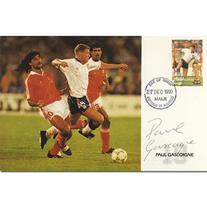 1990 Maldives - Signed by Paul Gascoigne