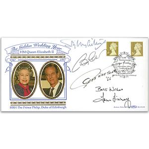 1997 Golden Wedding - Signed Stanley Matthews, Hurst, Finney & B Charlton